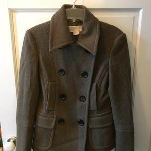 Michael Michael Kors Olive Wool Coat